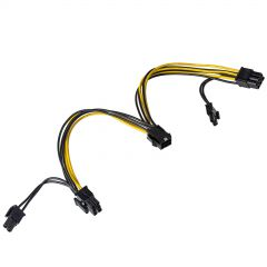Adapter PCI Express 6 pin M / 2x 6+2 pin F AK-CA-55